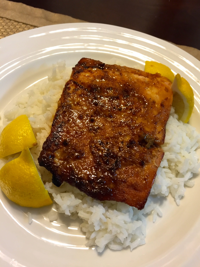 Monthly Challenge 1.2: Honey Garlic Salmon | www.shortandsweetblog.com