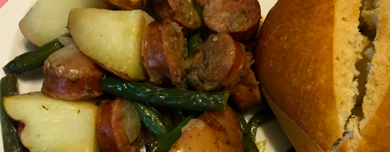 Monthly Challenge 1.3: Grilled Sausage Veggie Medley | www.shortandsweetblog.com
