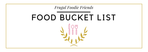 Food bucket list banner